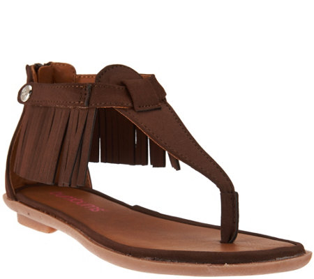 Bumbums & Baubles Children's Fringe Sandals- Sienna