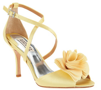 Badgley Mischka Strappy Flower Evening Sandals- Gaby - S8560