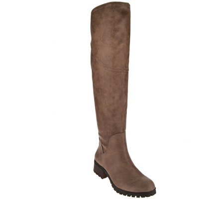 Lucky Brand Over The Knee Lug-Sole Boots- Harleen