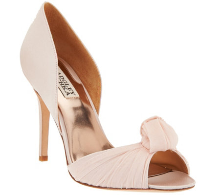 Badgley Mischka Knotted d'Orsay Open-Toe Pump- Musica