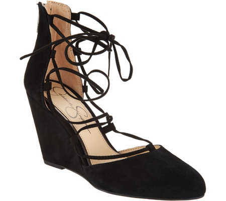 Jessica Simpson Jacee Lace Up Wedges