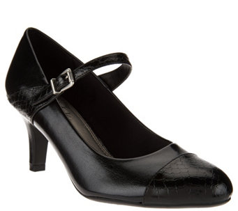 Life Stride Mary Jane Mid Heel Pumps - Petra - S8473