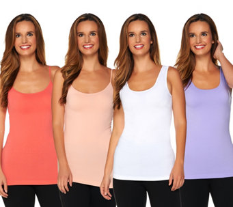 Skinnytees Set of 4 Seamless Tanks and Camis - S8474