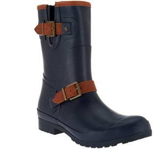 Sperry Buckled Mid-Shaft Rain Boots- Walker Fog - S8576