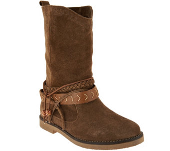 Coolway Suede Mid Calf Pull-on Boots- Arabis - S8585