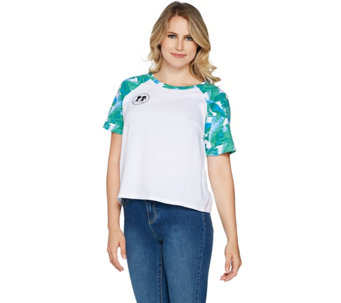 Boy Meets Girl Logo Raglan Sleeve Crop Top - S8786