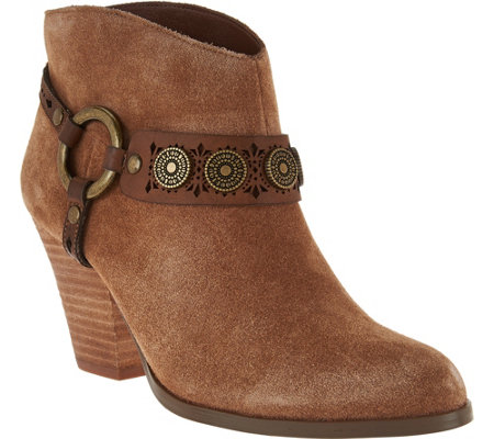 Yellow Box Western Booties with Strap Detail - Mandy