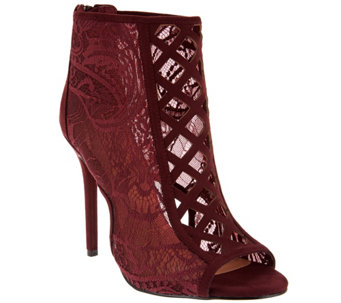 Daya by Zendaya Lace Open Toe Booties - Angus - S8490