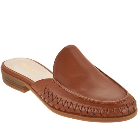Nine West Juanita Braided Leather Slides