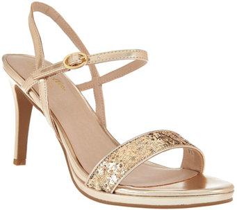 Seychelles Metallic & Glitter Evening Sandals- Sweet as Honey - S8299