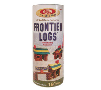 Ideal Frontier Logs Classic Wood 160-Piece C onstruction Set - T124400