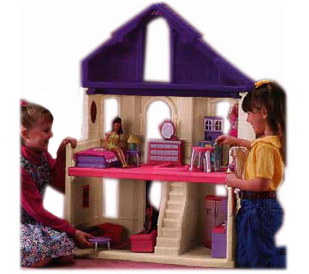Step2 Fashion Place Doll House With Furniture Qvc Com
