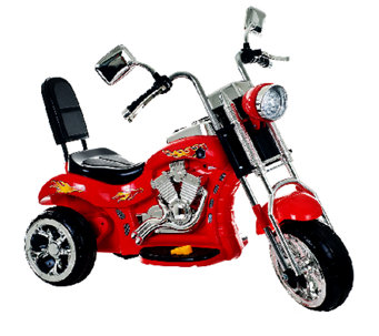 Lil' Rider Red Rocking 3 Wheel Chopper 6V Ride-On - T127201