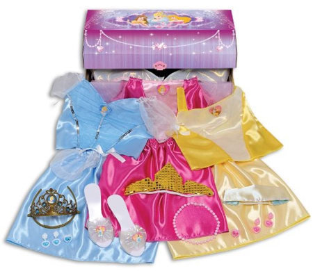 Disney Princess Deluxe Dress Up Trunk Qvc Com