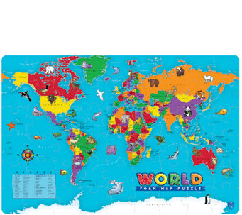 Educational Insights World Foam Map Puzzle - T127605