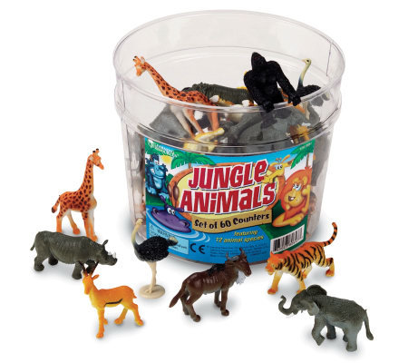 Set of 60 Jungle Animal Counters  by Learning Resources