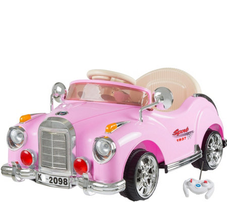Lil Rider Battery Powered Pink Classic Coupe Ride On Car