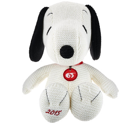 "65th Anniversary Commemorative 15"" Snoopy Plush"