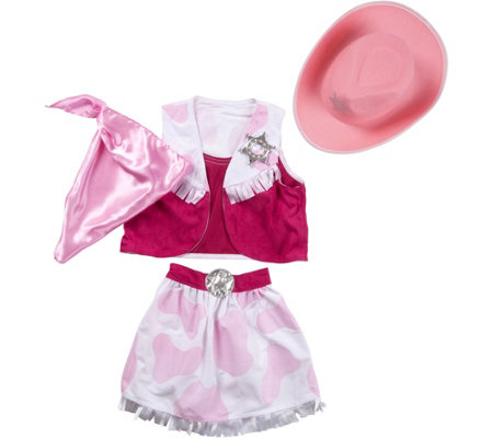 Melissa & Doug Cowgirl Role Play Costume Set