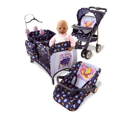 Winnie The Pooh Doll Travel System Set Qvc Com