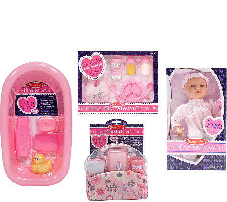 Melissa & Doug Let's Play Dolls Bundle