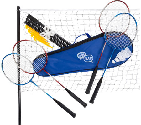 Hey! Play! Complete Badminton Set with CarryingCase