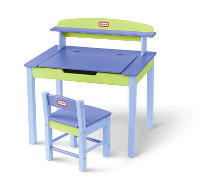 Little Tikes Wood Desk and Chair — QVC