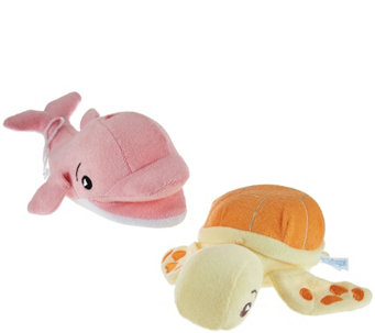 Soap Sox Set of Two Plush Animal Soap Sponges - T34018