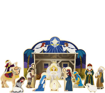 Melissa & Doug Wooden Nativity Set - T127519