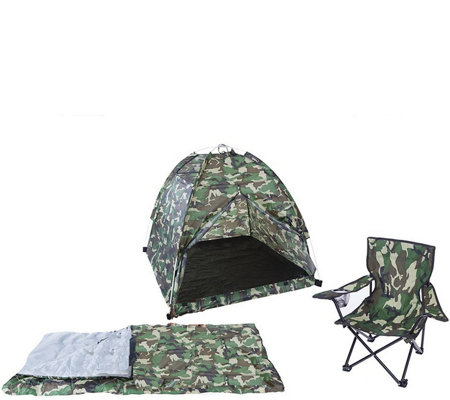 Pacific Play Tents Green Camo Tent Set