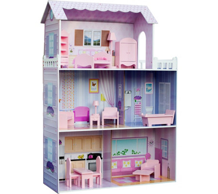 Teamson Kids Fancy Mansion Dollhouse with Furniture