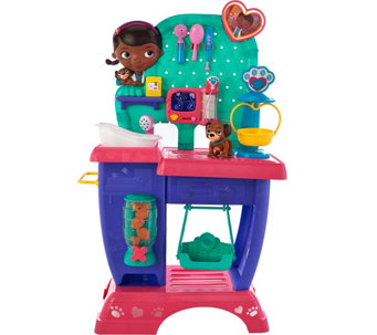 Doc McStuffins Pet Vet Checkup Center w/ 25 Pieces and Sound - T34219