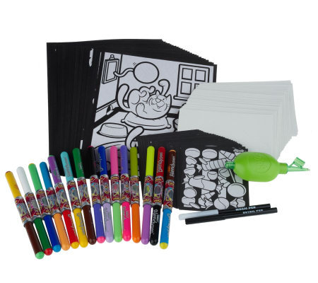 Deluxe Blendy Pen 128pc Activity Kit w/ Blasta Airbrush
