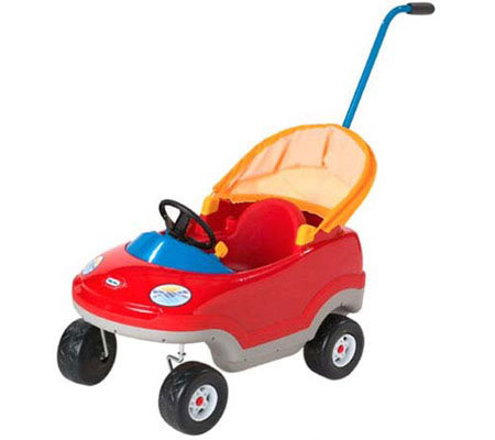 Little tikes deluxe cozy convertible car for Little tikes 2 in 1 buildin to learn motor workshop
