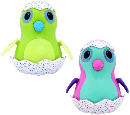 "Hatchimals Set of 2 4"" Wind-Up EGGliders with Lights"