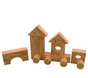 Wood-Like Soft Foam Blocks - 80 Pieces - T123823