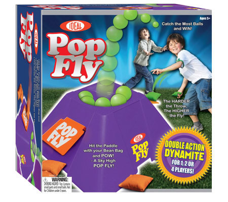 Pop Fly Tossing and Catching Game