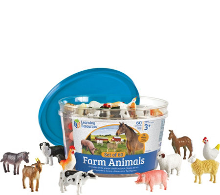 Learning Resources Set of 60 Farm Animal Counters