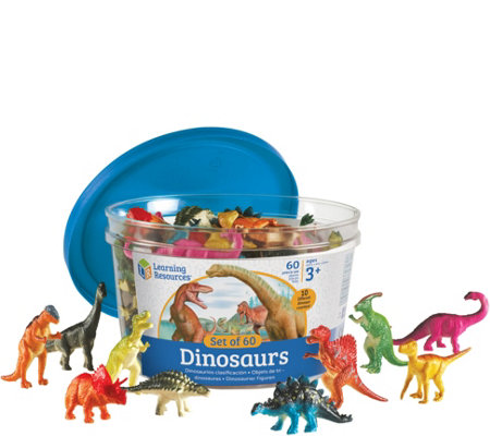Learning Resources Set of 60 Dinosaur Counters