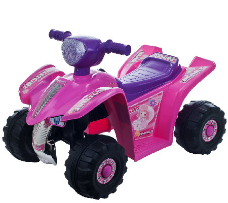 Lil' Rider Pink Princess Mini Quad Ride-On FourWheeler