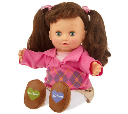 "Read & Sing Allison Interactive 15"" Doll w/ Storybook"