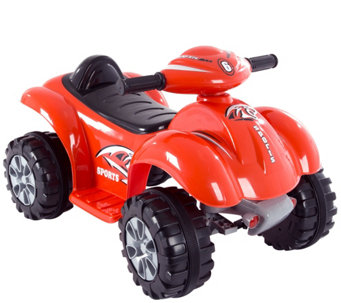 Lil' Rider Battery Powered Red Raptor Four Wheeler - T127337