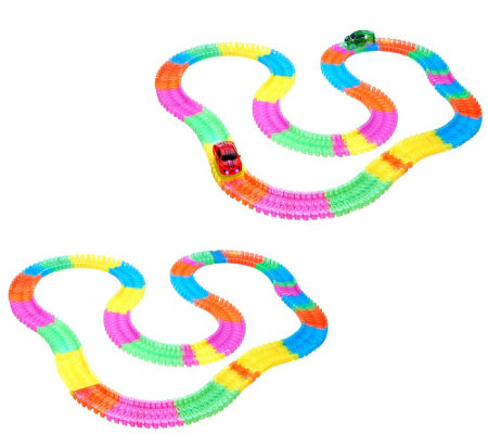Twister Trax S/2 Glow in the Dark Set w/ 360 Light-Up Vehicles
