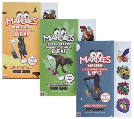 Mardles Set of 3 Interactive 4D Stickers