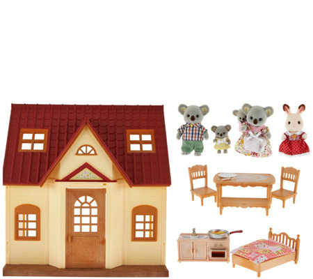 Calico Critters Cozy Cottage Starter Home With Koala Family