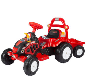 Lil' Rider The King Tractor & Trailer Ride-On - T127343