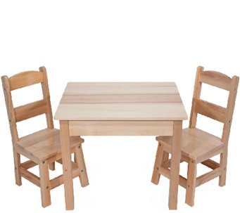 Melissa & Doug Wooden Table & Chairs Set - T127345