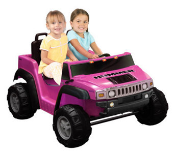Hummer H2 Two Seater in Pink (12V) - T126046