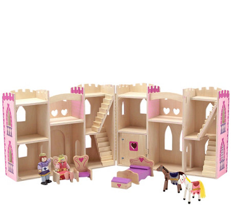 Melissa & Doug Fold & Go 9-Piece Princess Castle Set