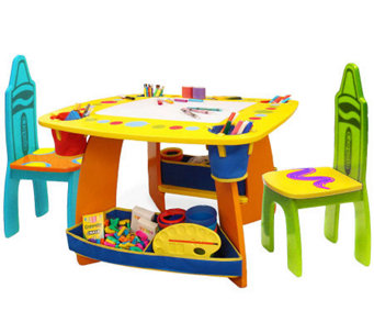 Crayola Wooden Table & Chair Set - T125948